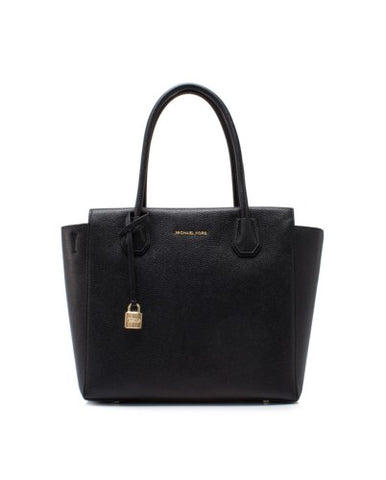 Michael Kors Michael Kors Mercer Large Satchel Bag (Black) Bags - DNovo