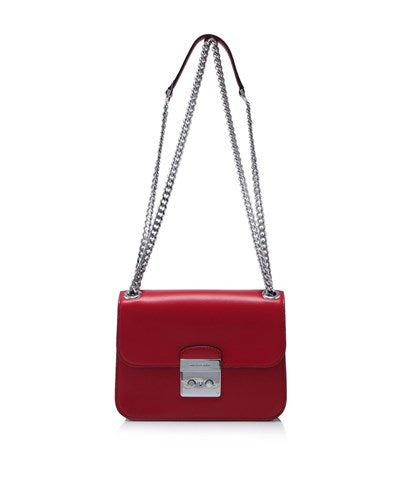 b9f66c265163 Michael Kors Michael Kors Sloan Editor Medium Chain Shoulder Bag (Bright Red)  Bags -