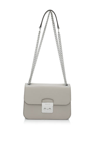 Michael Kors Michael Kors Sloan Editor Medium Chain Shoulder Bag (Cement) Bags - DNovo