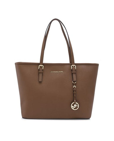 Michael Kors Michael Kors Jet Set Travel Top Zip Gold Tone Tote Bag (Luggage) Bags - DNovo