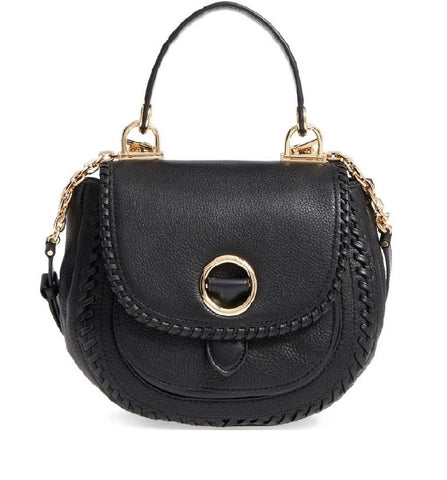 Michael Kors Michael Kors Medium Isadore Leather Crossbody Bag (Black) Bags - DNovo