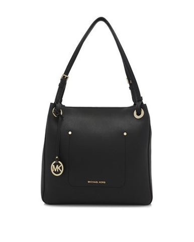 Michael Kors Michael Kors Walsh Medium Shoulder Tote Bag (Black) Bags - DNovo