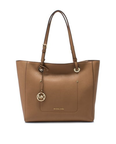 Michael Kors Michael Kors Walsh Large East West Top Zip Tote Bag (Acorn) Bags - DNovo