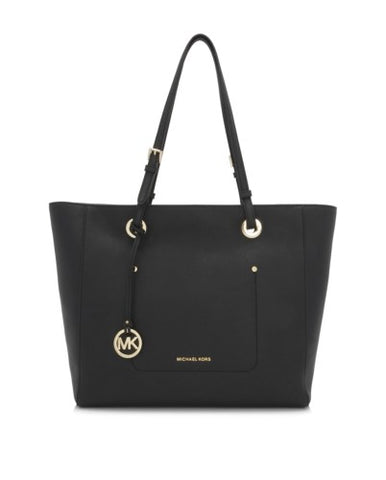 Michael Kors Michael Kors Walsh Large East West Top Zip Tote Bag (Black) Bags - DNovo