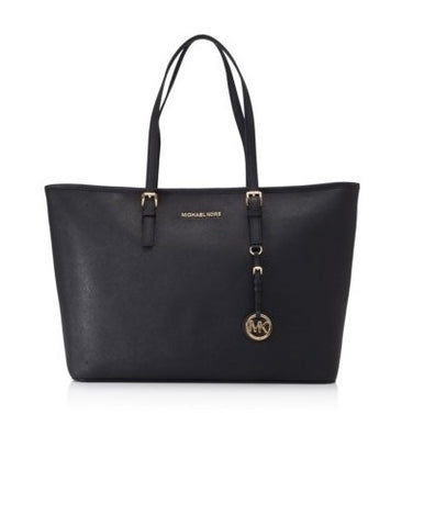 Michael Kors Michael Kors Jet Set Travel Medium Top Multifunctional Tote Bag (Black) Bags - DNovo