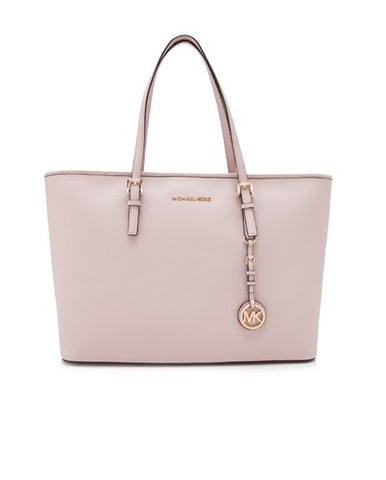 Michael Kors Michael Kors Jet Set Travel Gold Tone Medium Top Multifunctional Tote Bag (Soft Pink) Bags - DNovo