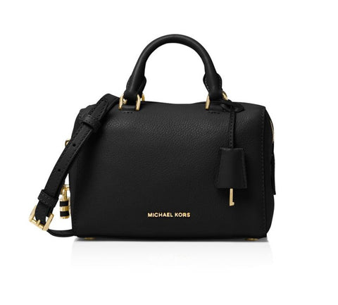 Michael Kors Michael Kors Kirby Extra-Small Leather Satchel Bag (Black) Bags - DNovo