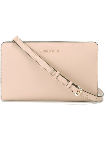 Michael Kors Michael Kors Jet Set Travel Large Crossbody Clutch (Oyster) Bags - DNovo