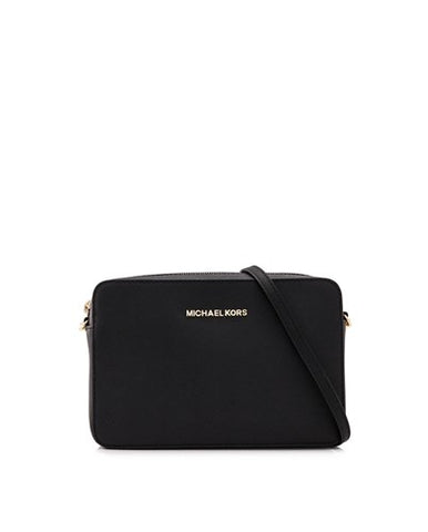 Michael Kors Michael Kors Jet Set East West Large Crossbody Bag (Black) Bags - DNovo