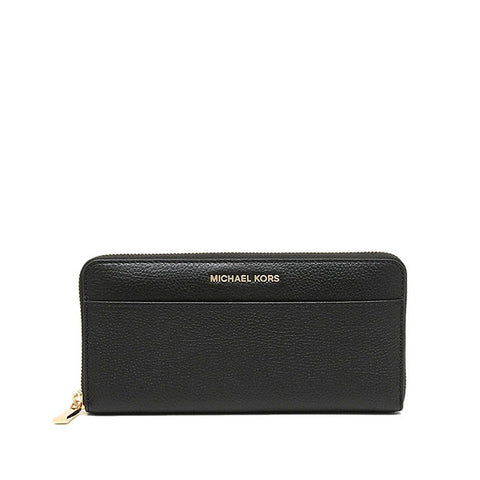 Michael Kors Michael Kors Mercer Continental Wallet (Black) Small Leather Goods - DNovo