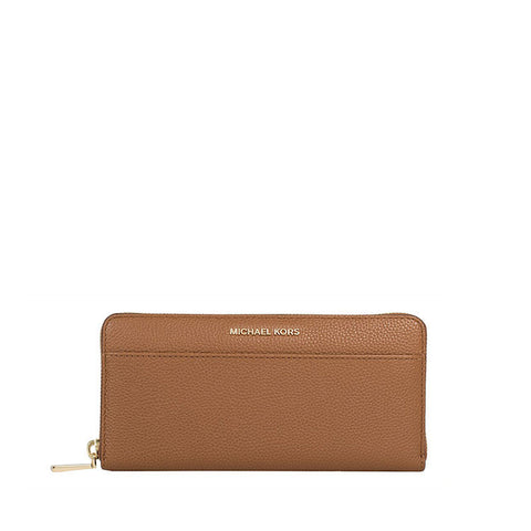 Michael Kors Michael Kors Mercer Continental Wallet (Luggage) Small Leather Goods - DNovo