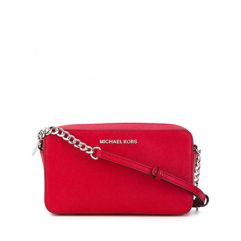Michael Kors Michael Kors Jet Set Medium East West Crossbody Bag (Bright Red) Bags - DNovo