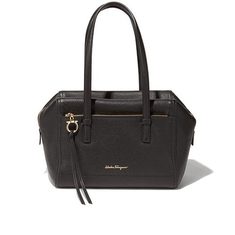 Salvatore Ferragamo Gancio Shopping Handbag (Nero) # 21F575649448