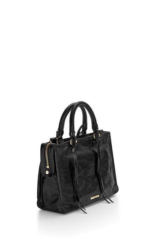 Rebecca Minkoff Micro Regal Satchel Bag (Black)
