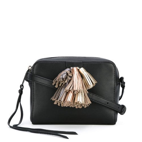 Rebecca Minkoff Mini Sofia Crossbody Bag (Black Metallic)