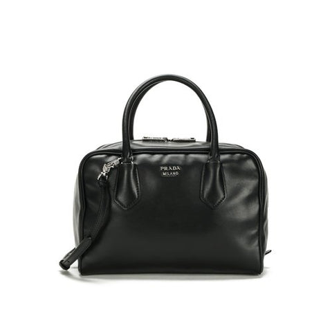 Prada Prada Medium Double Handle Soft Calf Inside Bag (Nero) Bags - DNovo