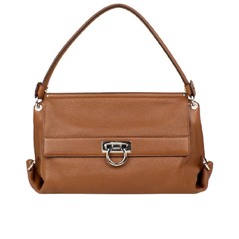 Salvatore Ferragamo Salvatore Ferragamo Olivia Shoulder Bag (Brown) # 21D0440490984 Bags - DNovo