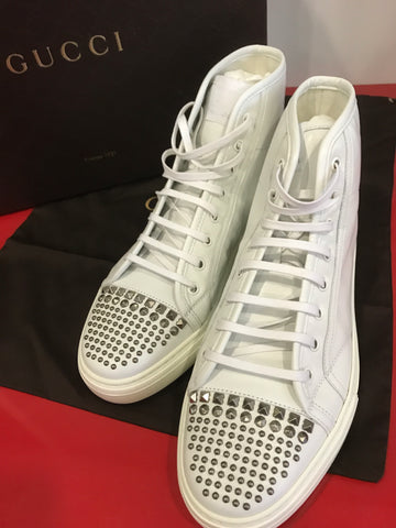 Gucci Gucci Studded Leather High Top Sneaker [AS-IS] Footwear - DNovo