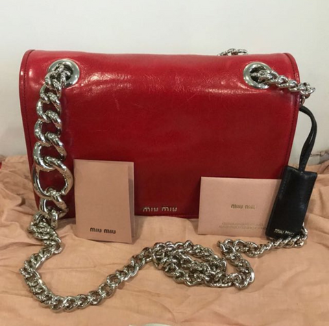 Miu Miu Miu Miu Rouge Obsession Shoulder Bag [AS-IS] Bags - DNovo
