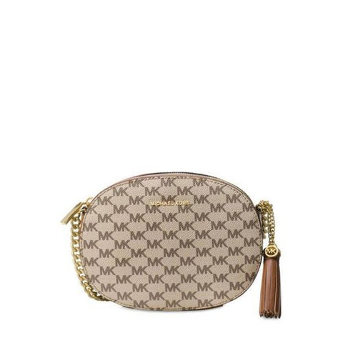 Michael Kors Michael Kors Ginny Logo Crossbody Bag (Natural Luggage) Bags - DNovo