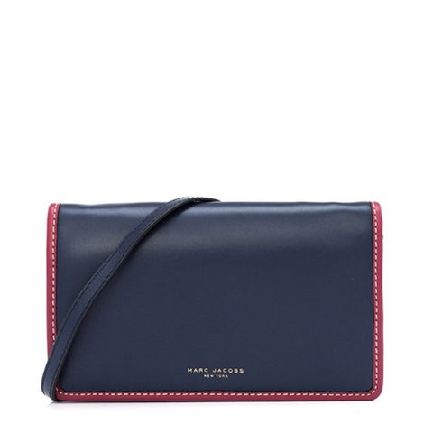 Marc Jacobs Marc Jacobs Crossbody Wallet With Strap (Blue) Bags - DNovo