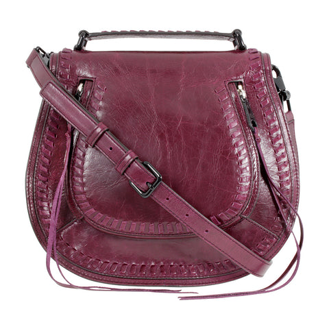 Rebecca Minkoff Vanity Saddle Bag (Dark Cherry)