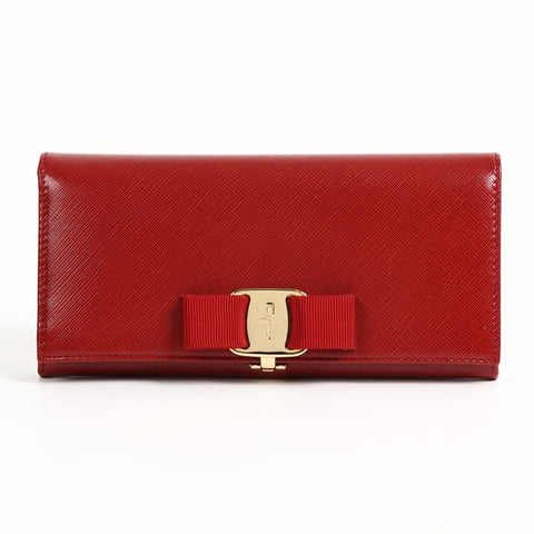 Salvatore Ferragamo Salvatore Feragamo Vara Continental Wallet (Rosso) # 22A900548889 Small Leather Goods - DNovo