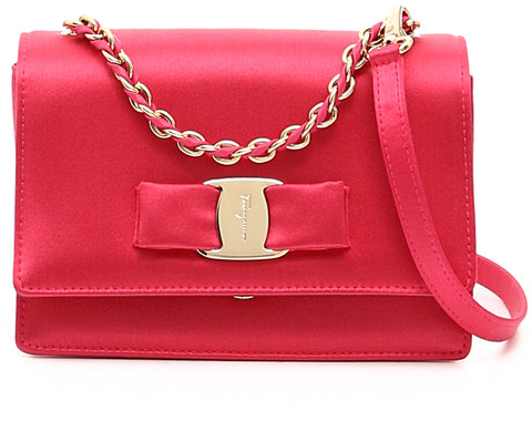 Salvatore Ferragamo Salvatore Ferragamo Ginny Mini Shoulder Bag (Pink) # 21F657649954 Bags - DNovo