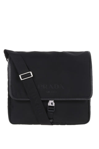 Prada Prada Nylon Messenger Bag (Black) Bags - DNovo