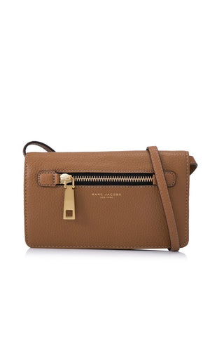 Marc Jacobs Marc Jacobs Gotham Wallet With Leather Strap (Maple Tan) Bags - DNovo