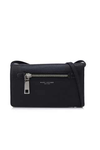 Marc Jacobs Marc Jacobs Gotham Wallet With Leather Strap (Black) Bags - DNovo