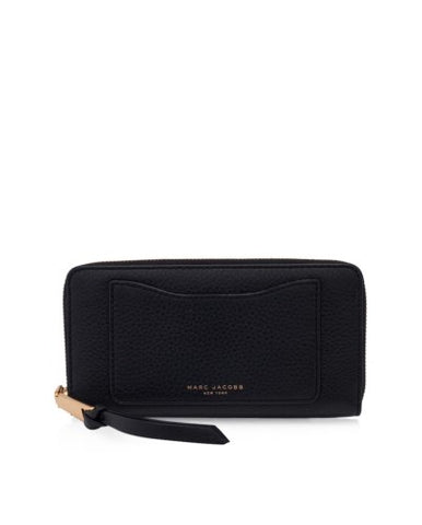 Marc Jacobs Marc Jacobs Recruit Continental Zip Around Wallet (Black) Small Leather Goods - DNovo
