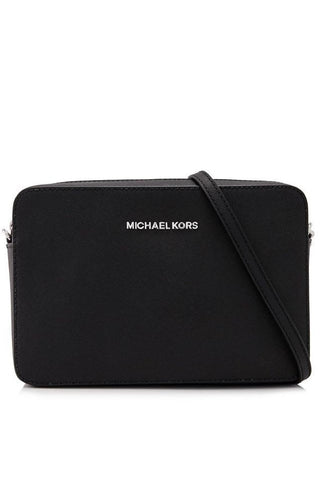 Michael Kors Michael Kors Jet Set Travel Large Saffiano Leather Crossbody Bag (Black) Bags - DNovo