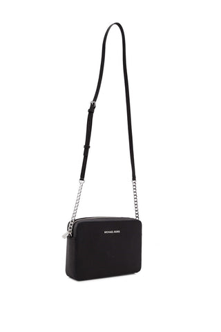 b6e9f6f03ffbee Michael Kors Michael Kors Jet Set Travel Large Saffiano Leather Crossbody  Bag (Black) Bags