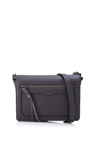 Rebecca Minkoff Avery Flap Crossbody (New Grey)