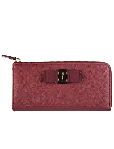 Salvatore Ferragamo Salvatore Ferragamo Vara Bifold Continetal Wallet (Opera) # 22C124643595 Small Leather Goods - DNovo