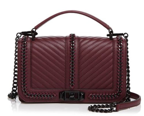 Rebecca Minkoff Love Crossbody Bag (Dark Cherry)