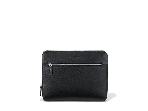Salvatore Ferragamo Leather Clutch (Nero) # 249966632128