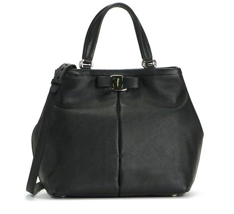 Salvatore Ferragamo Ninette Bag (Nero) # 21E309568520