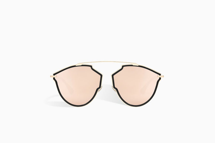 "CHRISTIAN DIOR ""DIORSOREALRISE"" SUNGLASSES, ROSE GOLD AND BLACK"
