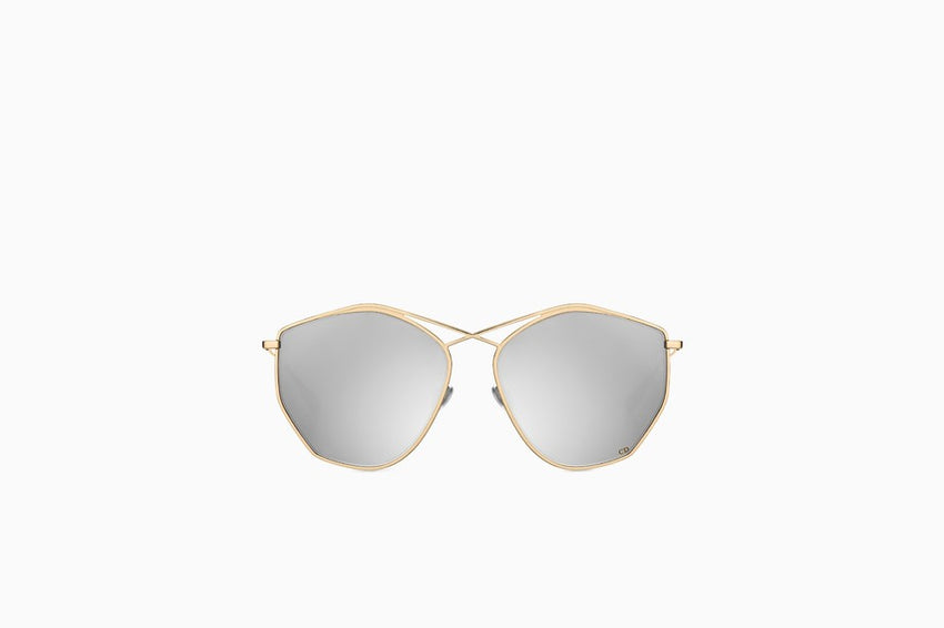 "CHRISTIAN DIOR ""DIORSTELLAIRE4"" SUNGLASSES, GOLD-TONE AND SILVER"