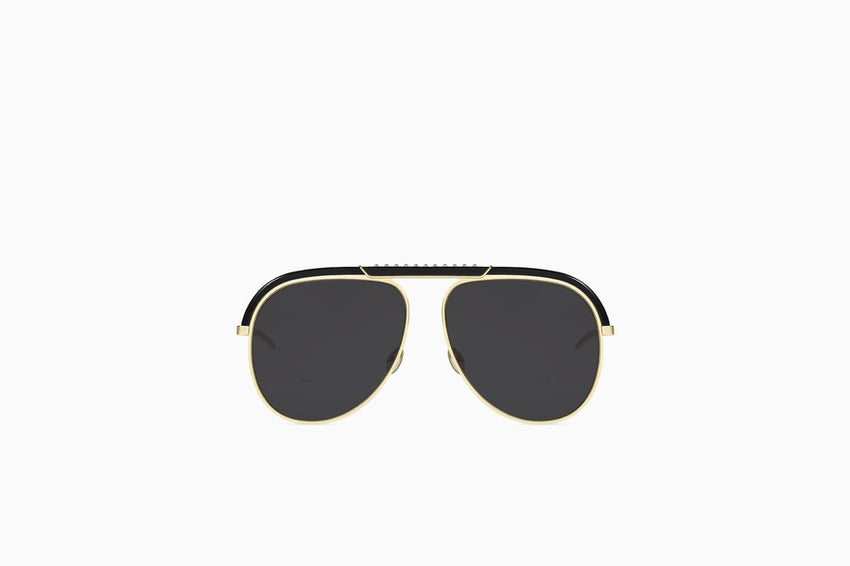 "CHRISTIAN DIOR ""DIORDESERTIC"" SUNGLASSES, BLACK AND GOLD-TONE"