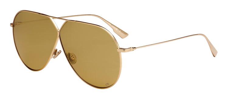 "CHRISTIAN DIOR ""DIORSTELLAIRE3"" SUNGLASSES, GOLD-TONE AND BROWN"