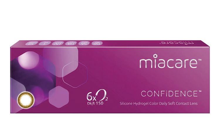 Miacare CONFiDENCE (Daily) 10 pcs per Box - Black / Brown / Violet