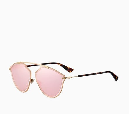"CHRISTIAN DIOR ""DIORSOREALRISE"" SUNGLASSES, PINK AND HAVANA"