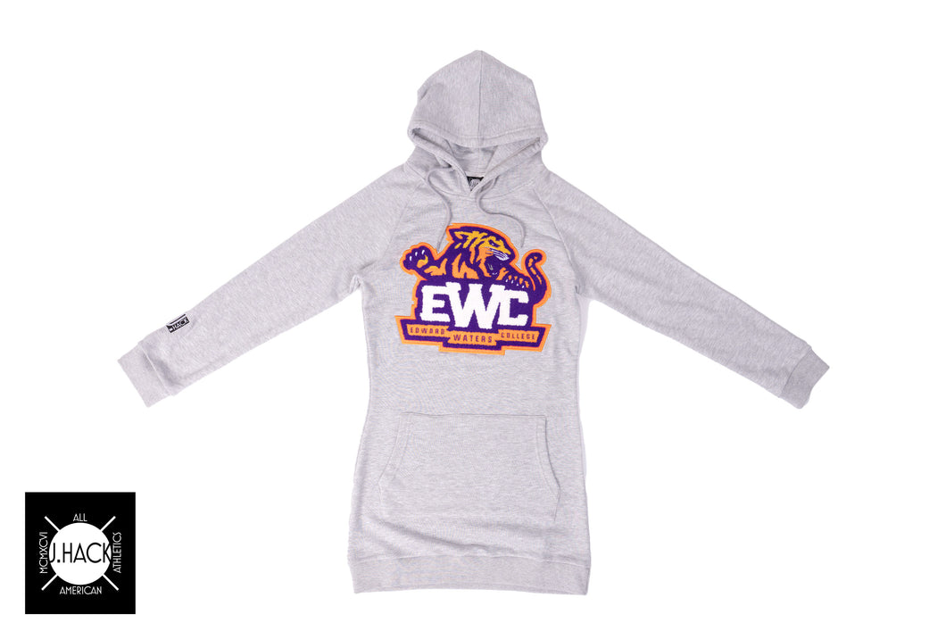 LADIES E.W.C. Hoodie Dress with Chenille Patch