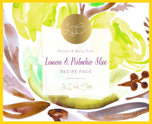 Lemon & Pistachio Slice