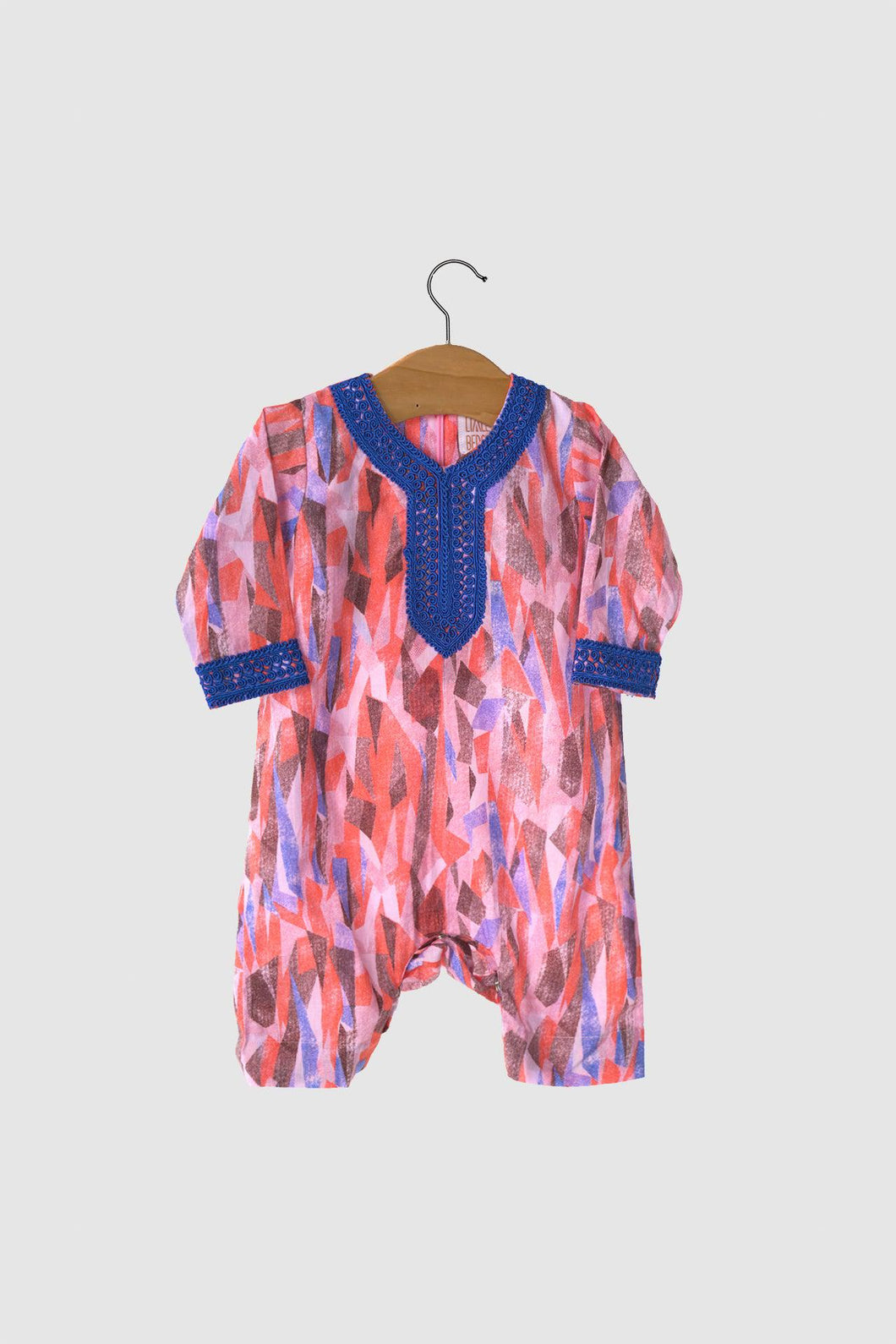 Liberty Collection: Jalabiya Onesie - Coral