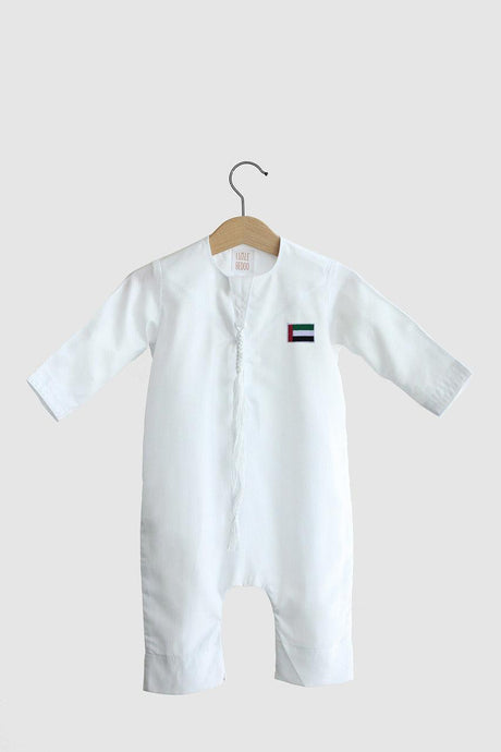 Limited UAE Flag Edition: Kandora Onesie - White