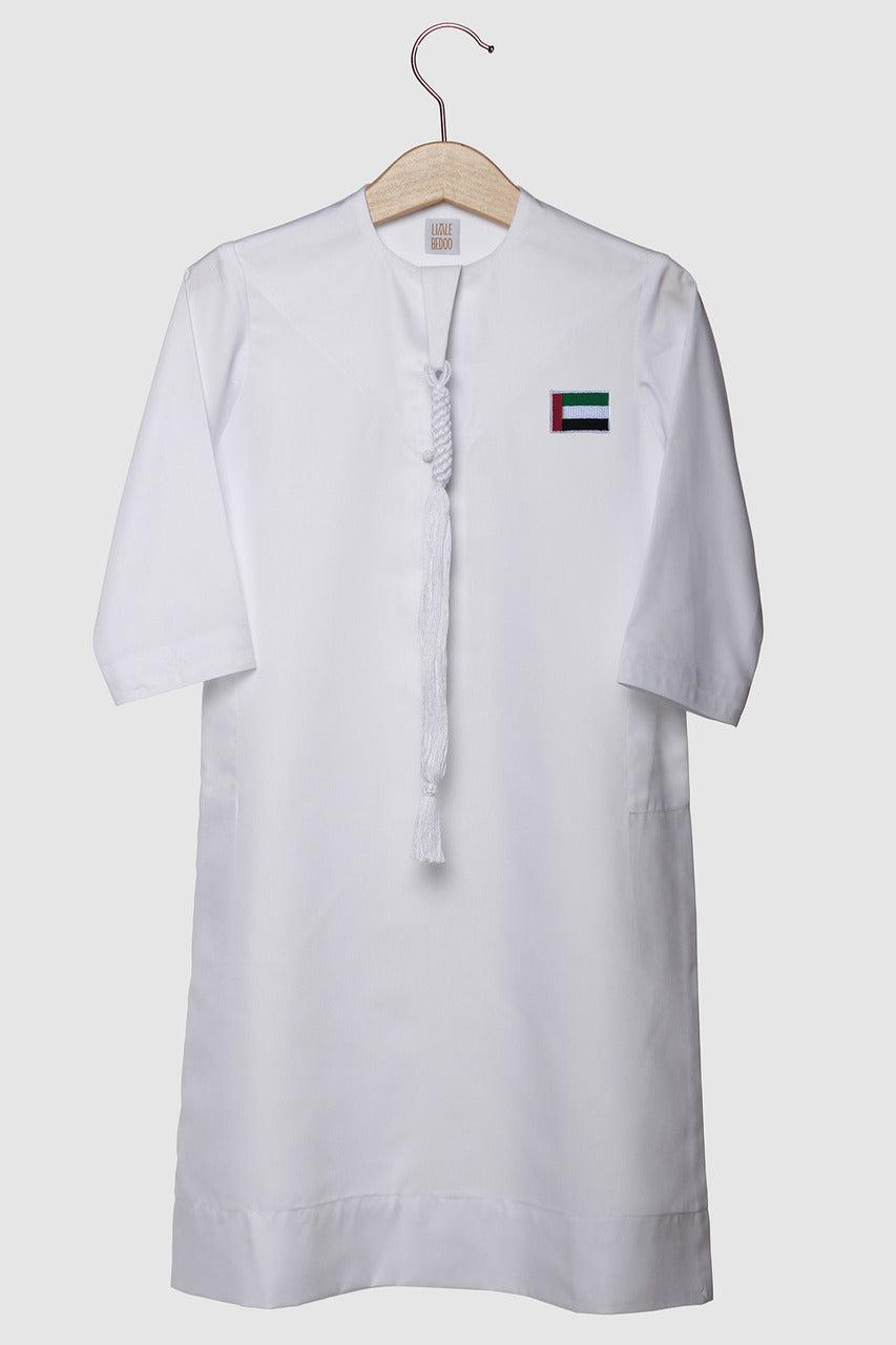 Limited UAE Flag Edition: Kandora - White